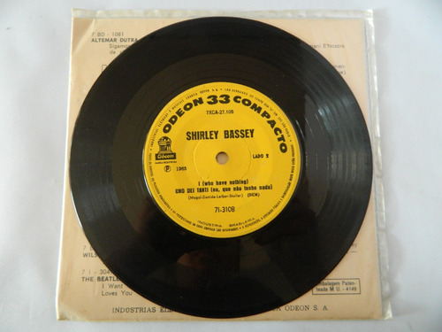 shirley bassey 1965 goldfinger - compacto ep 38