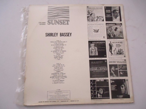 shirley bassey / i´ve got a song for you vinyl lp acetato