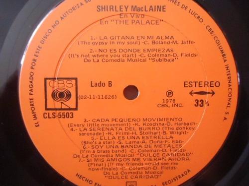 shirley mac laine / live at the palace vinyl lp acetato
