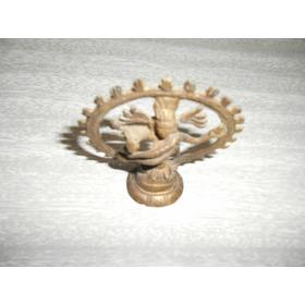 Shiva Nadaraj Na Roda De Fogo Em Bronze - Frete Grátis