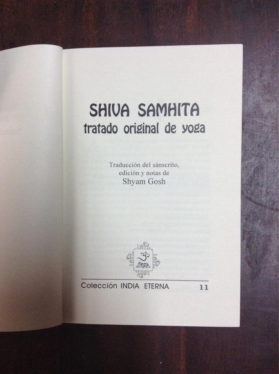 Shiva Samhita, Tratado Original De Yoga - $ 100.00 en
