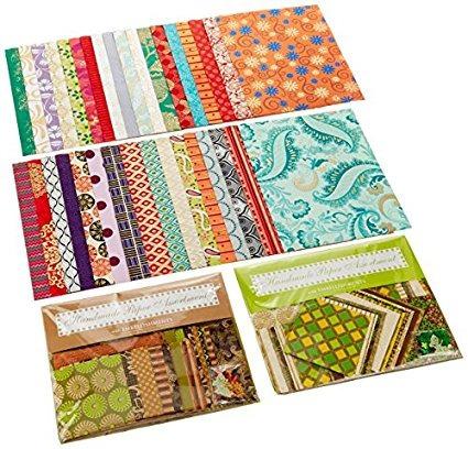 shizen diseño indio papel hecho a mano, surtido 2