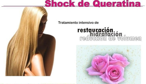shock de keratina sin formol 500 ml. restauracion total