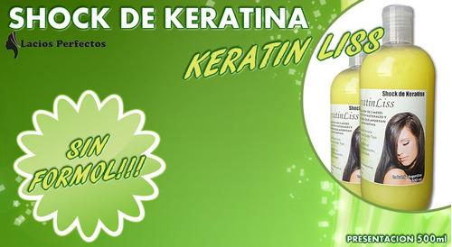 shock de keratina sin formol 500 ml. restauracion total