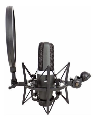 shock mount aranha com pop filter arcano mn-1 rosca interna