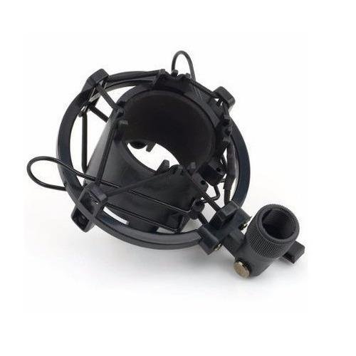 shock mount suporte aranha de metal p/ microfone condensador