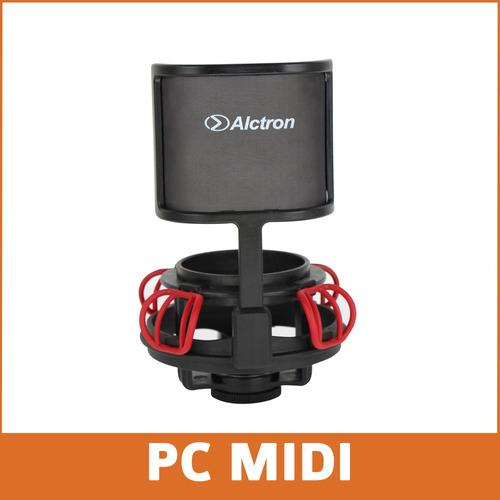 shockmount + antipop ma840 para microfono condensador