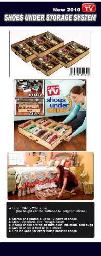 shoes under  almacena zapatos bajo la cama a solo s/. 35