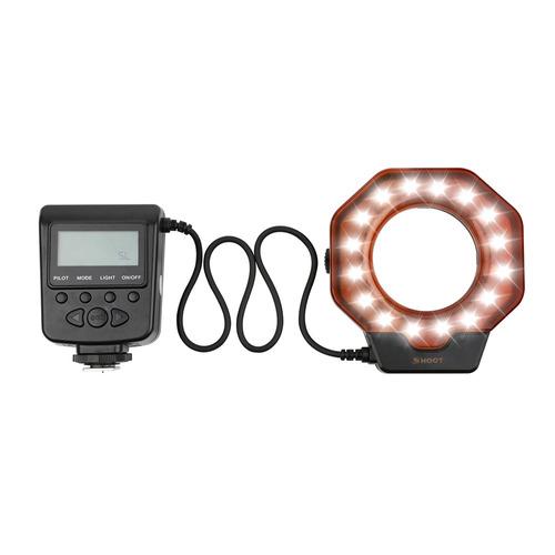 shoot xt -356 led macro anel flash luz speedlite preencher e