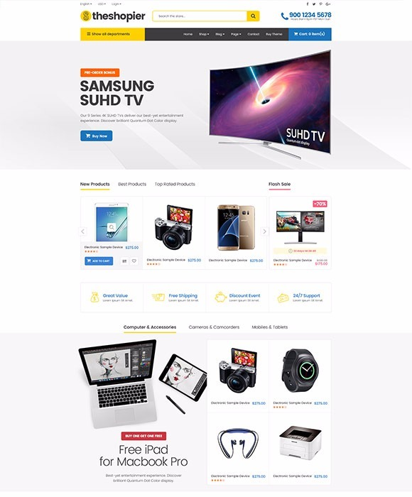 Shopier - Plantilla Tema Responsive Wordpress Woocommerce - Bs ...
