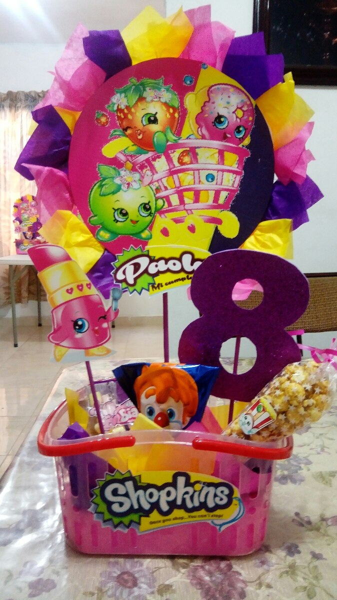 Shopkins arreglos de mesa para fiestas en - Decoracion de mesa de cumpleanos infantil ...