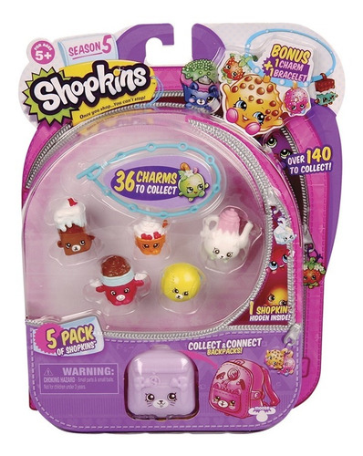 shopkins blister kit com 5 shopkins dtc 3581 serie 5
