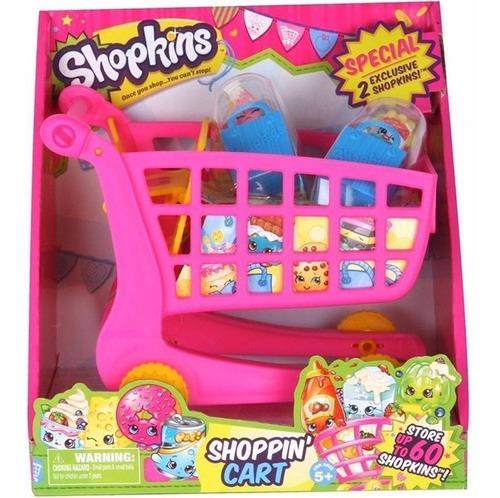shopkins carrito de compras + 2 figuras exclusivas! original