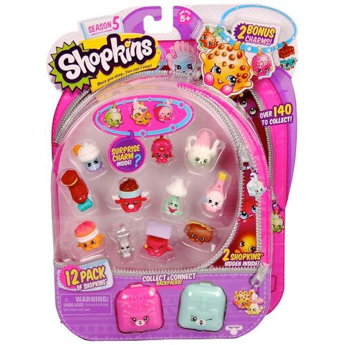shopkins coleccionables pack x12 +2 mochilas sorpresa