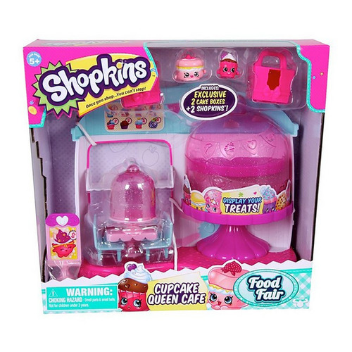 shopkins cupcake cafe 2 figuras 2 cake box tv 56081 bigshop