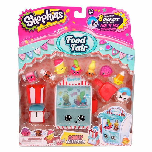 shopkins food fair candy collection 8 figuras exclusivas