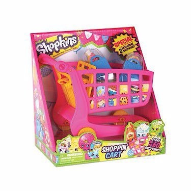 shopkins set carrito de compras almacena tus personajes