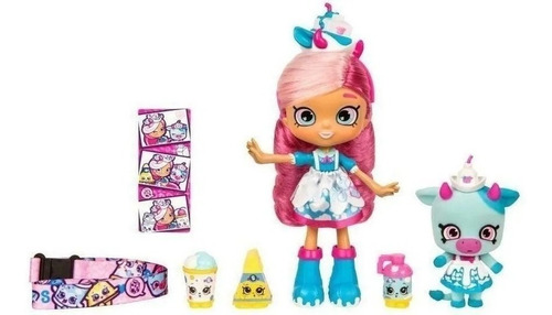 shopkins set muñeca shoppies wild style + fig int 56955 orig