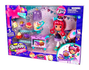 Fiesta Playset De Te Teapot Shopkins Shoppies Con Tippy KclTF1J