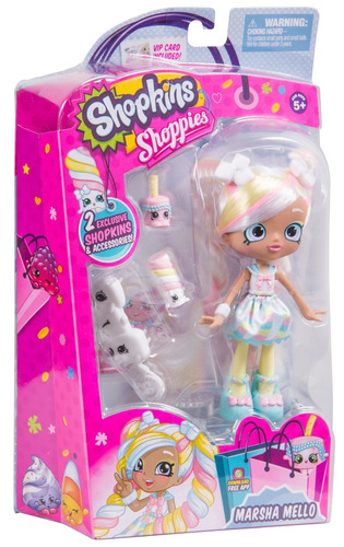 shopkins shoppies season 3 dolls single pack - marsha mel