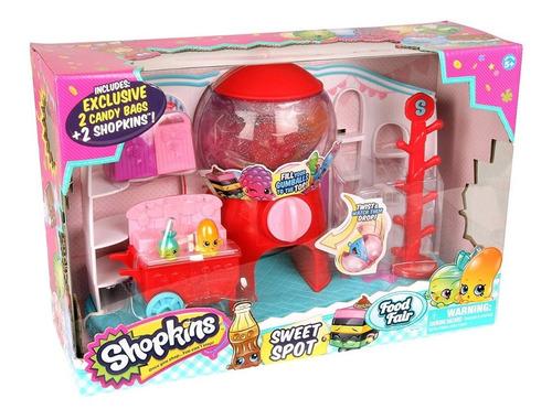 shopkins sweet spot maquina sorpresa playset tv