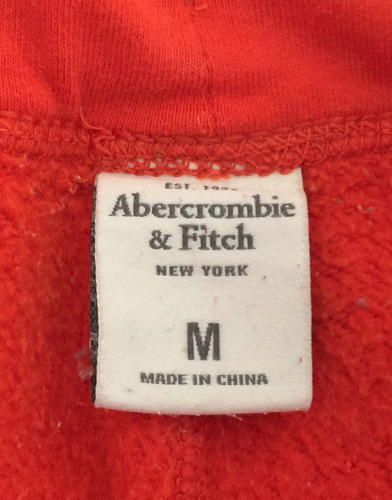 short abercrombie anaranjado afelpado talla mediano