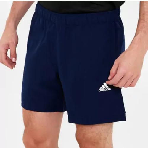 short adidas essentials hombre azul marino y blanco original