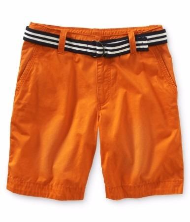 short aeropostale caballero estilo 0804 naranja talla 27