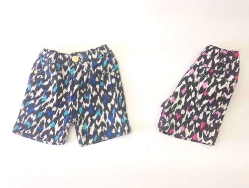 short animal print para beba maximini