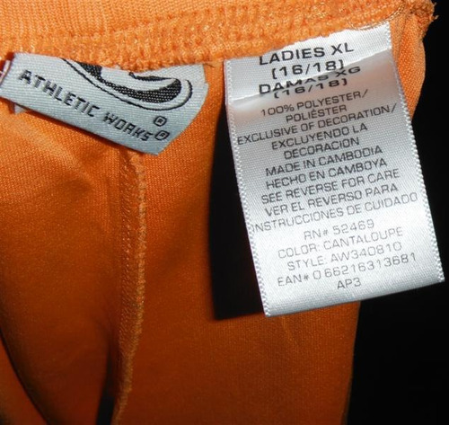 short athletic works talla extra xl ropa modateista g45d