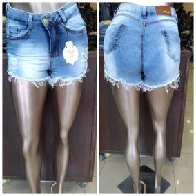 3f3ac858dc Bermuda Jeans Feminina Barra V Calcas Shorts Bermudas - Calças Jeans ...