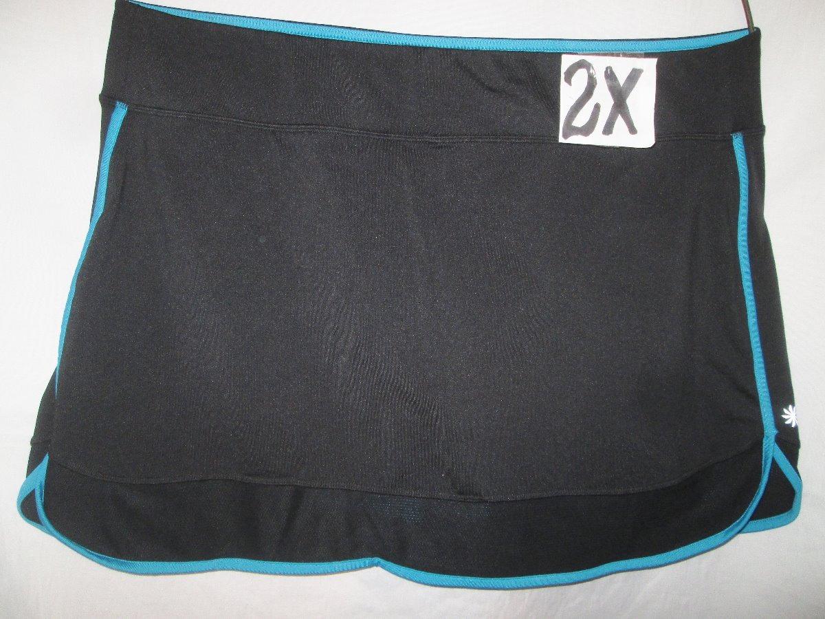 a5d099a5763 Short Azul Deportivo Con Falda Negra Talla 2x Athleta -   400.00 en ...