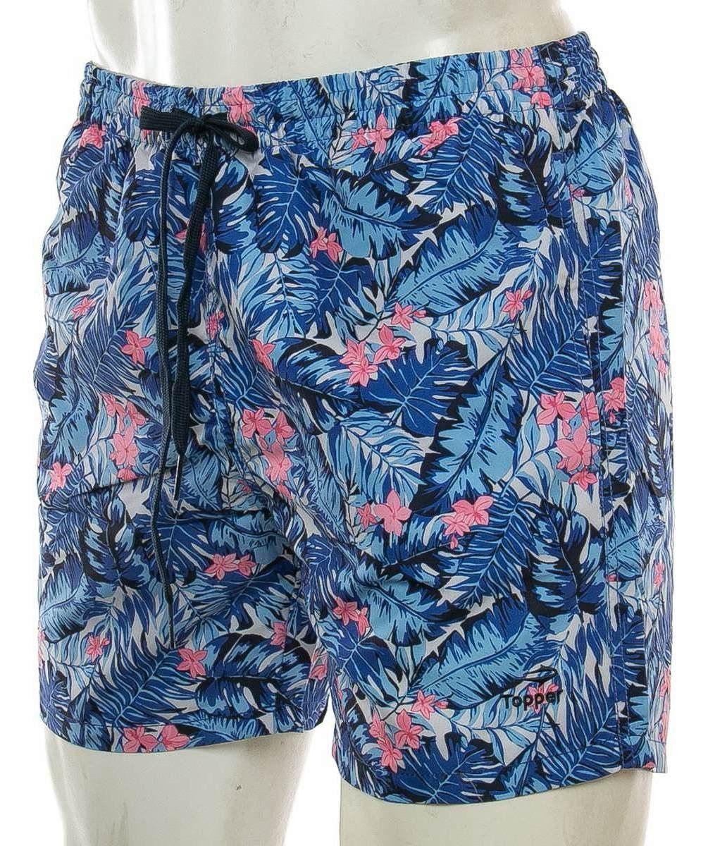 a1ed975a490b Short Baño Slim Azul Topper Sport 78 Tienda Oficial