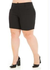 763bb4276887 Shorts Femininas Plus Size Social - Calçados, Roupas e Bolsas Preto ...