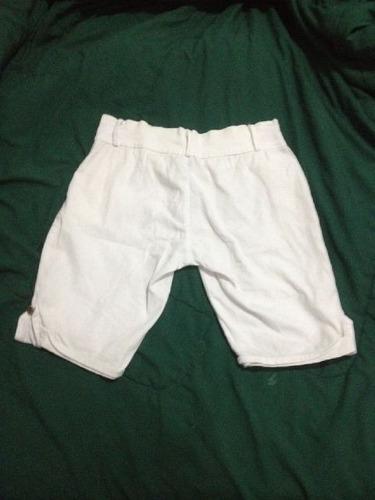 short bermuda blanca talla s