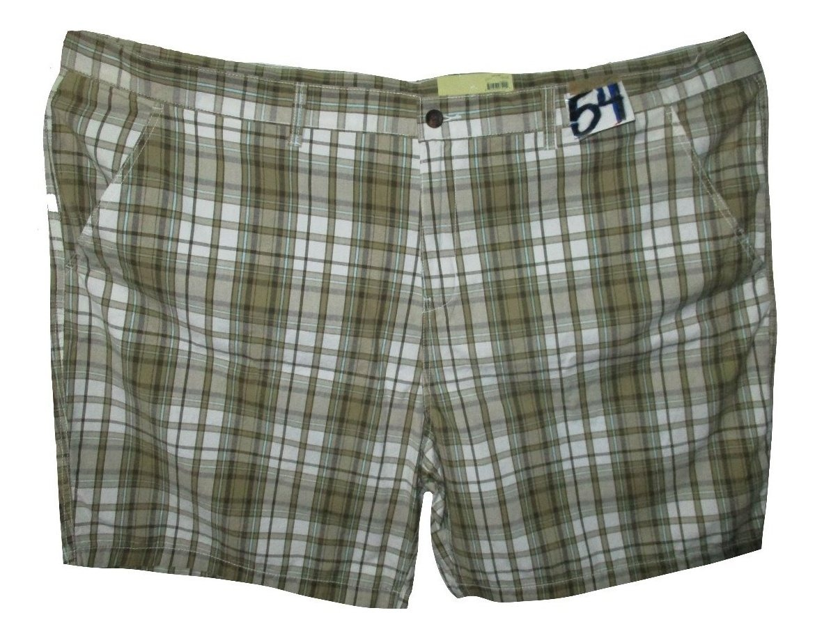 Bermuda Short 54 Cafe Faded Glo Talla Cuadros Beige Hombre Y ON0k8wXnP