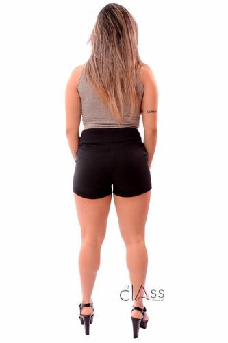 short - bermuda com bolso de ribana roupa feminina fitness