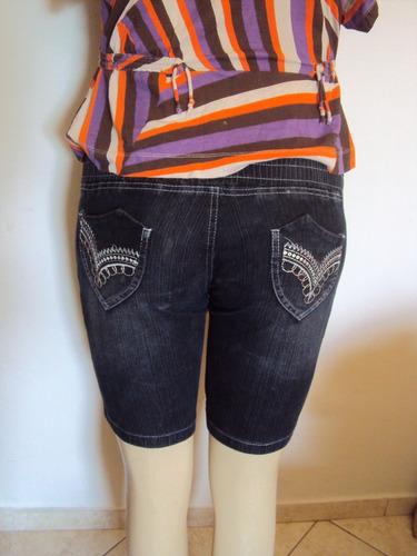 short / bermuda feminina jeans willy atos tamanho 46