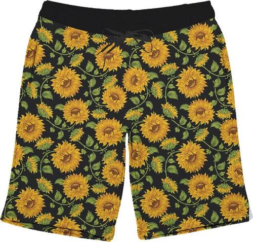 short bermuda girassol flores primavera verão full 3d tumblr