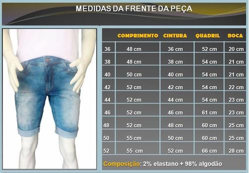 short bermuda jeans lycra rasgadas destroyed masculina
