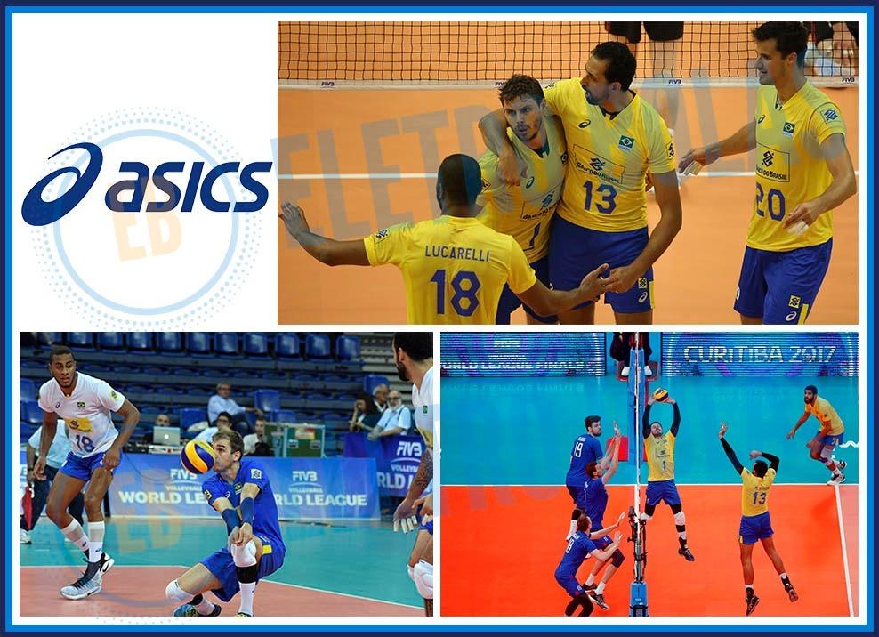 Short Bermuda Masc Vôlei Quadra Seleção Brasileira Cbv Asics - R ... 0c0bd9b38085b