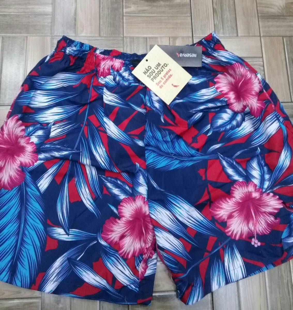 6174ae53d Short Bermuda Masculina Floral Praia Estampada Florido Verão - R$ 54,99 em Mercado  Livre