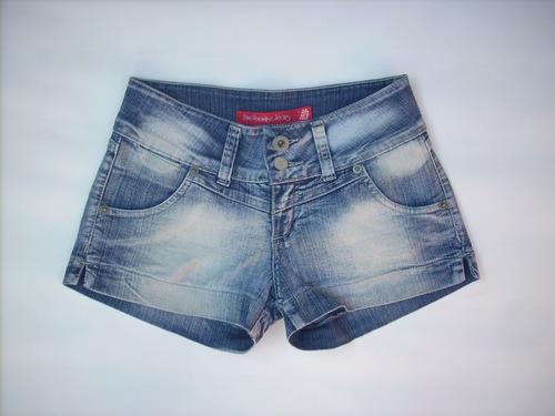 short blue paradise jeans 40 elasticado.