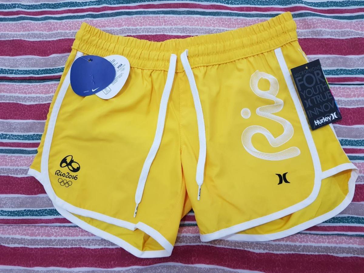 6ebce856a4938 short brasil olimpíada hurley - amarelo feminina. Carregando zoom.
