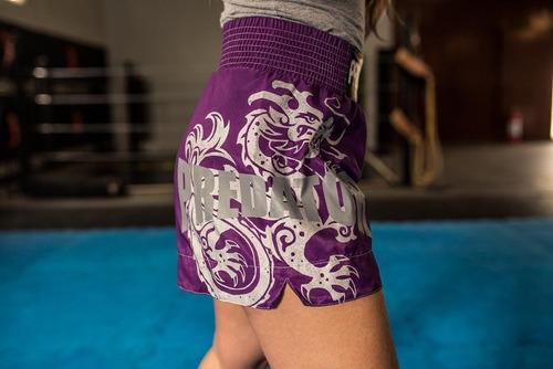 short calção bermuda muay thai - drago - feminino - predator