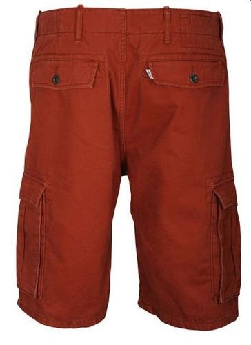 short cargo levis  color  rojo ladrillo talla 31