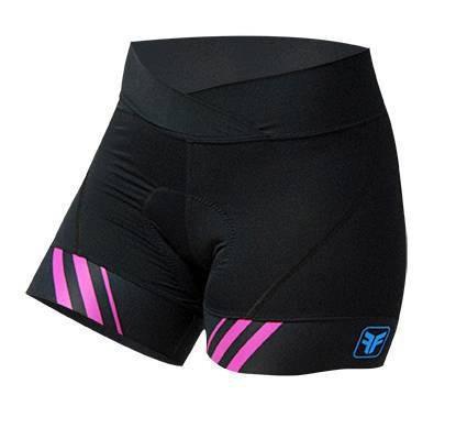 383f97256 Short Ciclismo Feminino Stripes Preto - Free Force - R  185