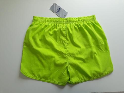 short core 3 inches masculino verde limão