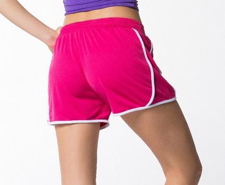 short correr dama rosa