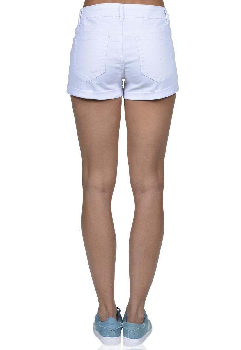 otra oportunidad 2bf99 c4a24 Short Corto De Mujer Exotik Ew171-1124-754 Blanco